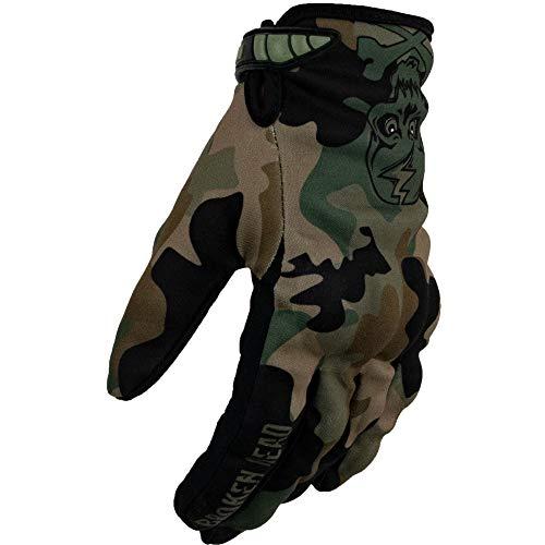 Broken Head MX-Handschuhe Rebelution - Motorrad-Handschuhe Für Motocross, Enduro, Mountainbike - Camouflage Grün (S)