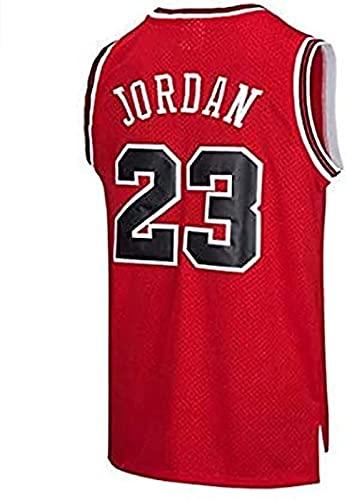 BeKing NBA Jersey Michael Jordan # 23 Chicago Bulls - Camiseta de baloncesto para hombre, estilo retro, rojo, small