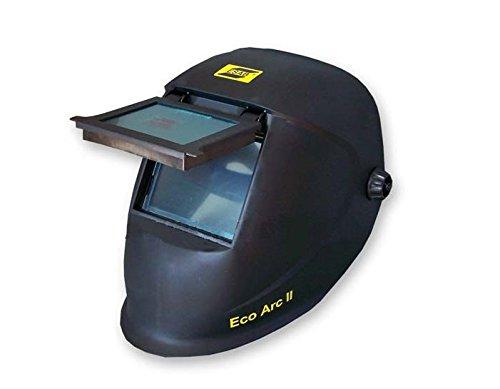 Esab - Schweißhelm Eco Arc 2 - Maße: 90 x 110 cm Kpl.mit Schweißerglas DIN 11 + 2 stück Vorsatzscheiben Polycarbonat.