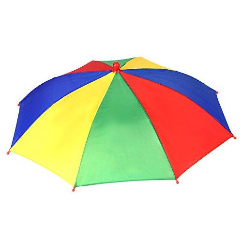 Faltbarer Sonnenschirm Regenschirm Hut für Outdoor-Aktivitäten wie Angeln in zufälliger Farbe