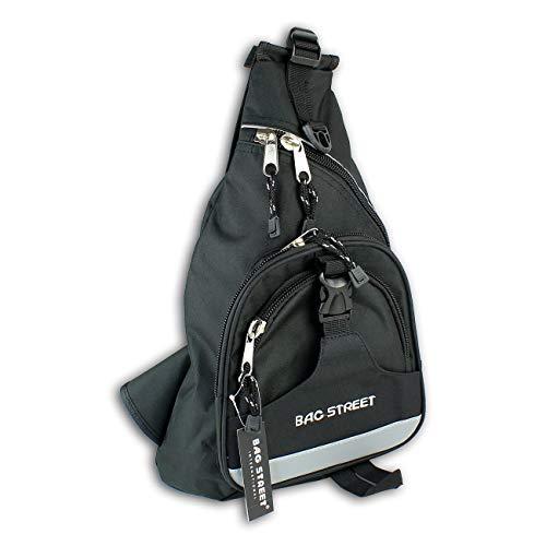 DrachenLeder Bodybag Nylon schwarz Eingurt-Rucksack Herren Jugend OTJ6570S Nylon Schultertasche