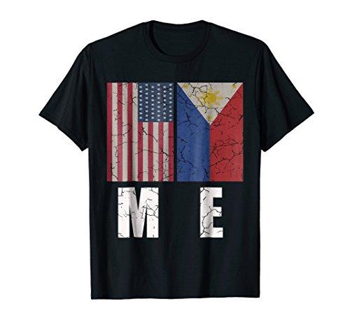 USA Philippines Flag T shirt American Filipino Pride Gift