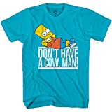 The Simpsons Boys Bart Simpson Skating Shirt - Krusty The Klown, Bart and Homer Simpson Tee Graphic T-Shirt (Turquoise Heather, Medium)