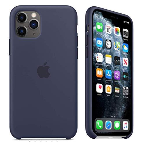 Capa Case Compatível Apple iPhone 11 Pro Max (6.5 Pol.) Silicone (Aveludado) (Microfibra) Box Lacrada (Midnight Blue)