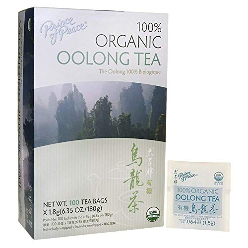 Prince of Peace Organic Oolong Tea - 100 Tea Bags (Pack of 3)