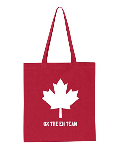Ugo On the EH Team in White Canada Maple Canadian Vancouver Tour Map Flag Gift Tote Handbags Bags Work School Travel