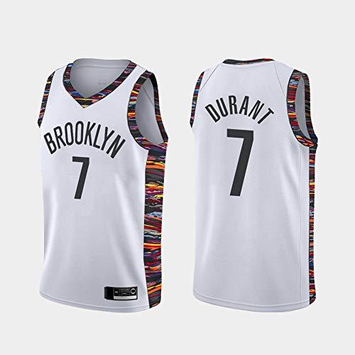 YDYL-LI Jerseys De Baloncesto para Hombres, 11 Tipos NBA Brooklyn Nets # 7 Kevin Durant - Chaleco Transpirable Clásico Comfort Camiseta Sin Mangas Uniformes Tops,F,M(170~175CM)