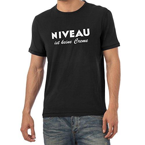 Texlab Herren Niveau ist Keine Creme T-Shirt, Schwarz, XXL