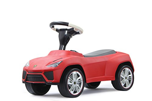 Jamara 460215 - Rutscher Lamborghini Urus rot – Kippschutz, Flüsterreifen, echte Scheinwerferattrappen, Kunstledersitz, Hupe am griffigen Lenkrad, offiziell lizenziert, wertige Verarbeitung