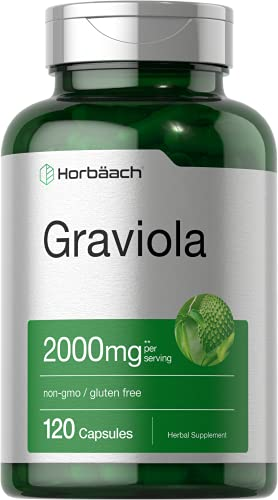 Graviola Extract 2000 mg 120 Capsules | Non-GMO,...