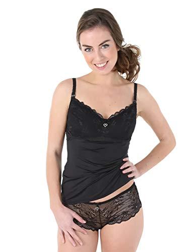 Petit Amour Damen Stillwäsche Emma Still-Top mit Spitze PA-LI-0058C Farbe: schwarz Größe: M (Cup C/D/E)
