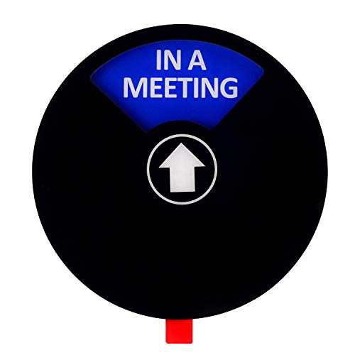 Kichwit Privacy Sign, Do Not Disturb Sign, Out of Office Sign, Please Knock Sign, In a Meeting Sign, Office Sign, Conference Sign for Offices, 5 Inch, Black Photo #4