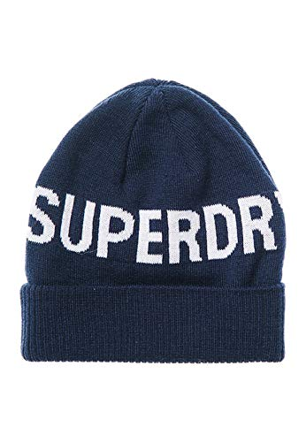 Superdry Mens Sportstyle Beanie Hat, Deep Navy, OS