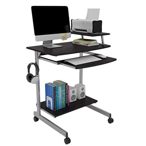Yxsd - Soporte de escritorio para ordenador portátil con bandeja de teclado y ruedas portátil mini