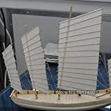 SIourso Maquetas De Barcos Kit Modello Juego De Modelos De Barcos Juegos Educativos para Niños Montaje De Modelos De Barcos De Madera Hobby Escala De Corte Láser 3D 1/80 Juncos De Vela Chinos
