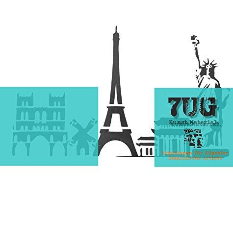 7UG Designer Schablone Eiffelturm Paris,Freiheitsstatue New York etc. / City-Serie Nr. 2