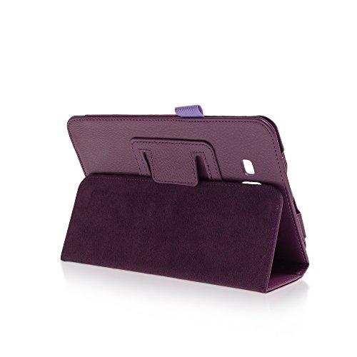 Klassische Hülle mit Standfunktion für Samsung Galaxy Tab 3 lite 7.0 in PURPLE mit automatischer Sleep- & Wake-Up-Funktion [passend für Modell SM-T110, SM-T111, SM-T113, SM-T116]