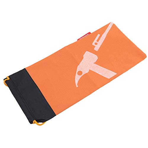 LWANFEI Tent Pegs Storage Bag Drawstring Closure Storage Bag for Ground Nails, Stakes, Wind Ropes, Hammers Holder Organizer Tent Accessories,Orange
