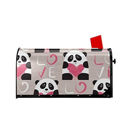 Sunny R Housse de boîte aux lettres de bienvenue Motif panda avec cœur et amour 21x18 Inches multicolore