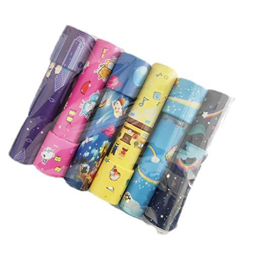 6 gemonteerd kleur willekeurige aflevering caleidoscoop, magie speelgoed klassieke partij van kinderen spelend leren speelgoed, puzzels prisma verrekijkers