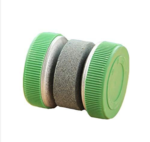 WOO LANDO handmatige messenslijper, licht slijpen door rollen - ideaal voor keukenmessen en outdoor -handig en licht in groen