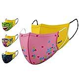 P.A.C. Kids Lightweight 2er-Pack Community-Maske, Mund- & Nasenmaske, Behelfsmaske, Alltagsmaske,...