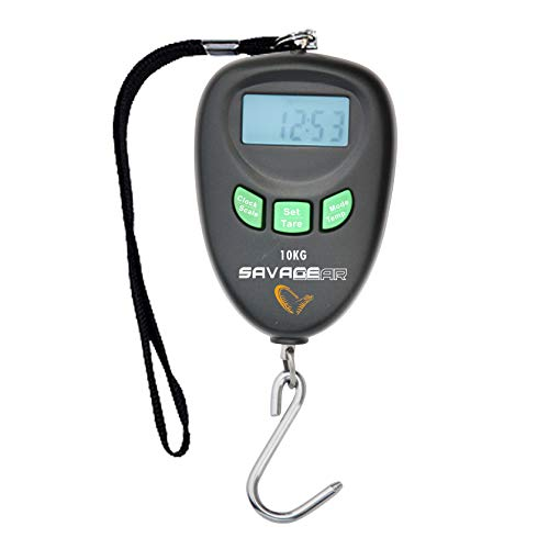 Savage Gear Digi Scales**M-up to 10kg**L-up to 30kg**Digital Scales Weighing Scales Fishing Luggage Weighing (Large (Up to 30KG)) by Savage Gear