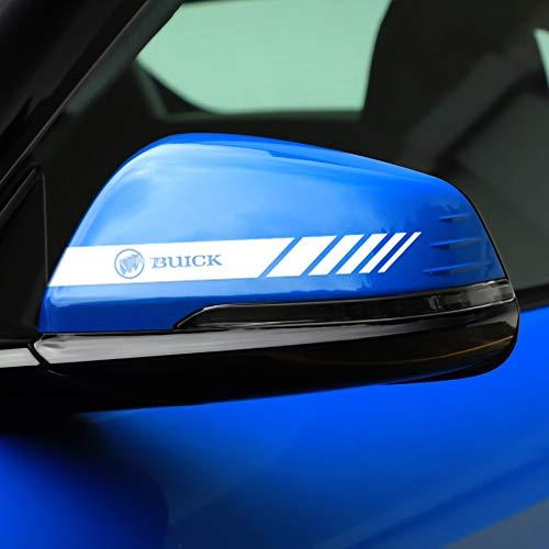Etiqueta engomada de la cubierta del espejo retrovisor del coche de PVC pegatinas retrovisores calcomanías calcomanías para el cuerpo decoración accesorios para automóviles para Buick, 2 uds