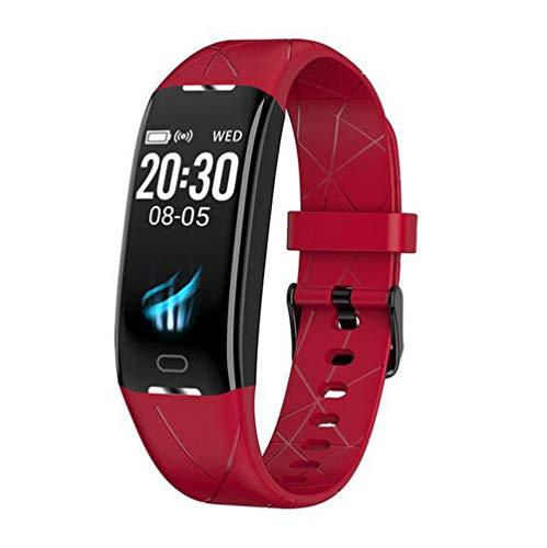 Boyuan Z21 SmartWatch Android iOS Bluetooth Pantalla táctil a Prueba de Agua Monitor de Ritmo cardíaco Medición de la presión sanguínea Podómetro Deportivo Recordatorio de Llamadas Actividad,Rojo