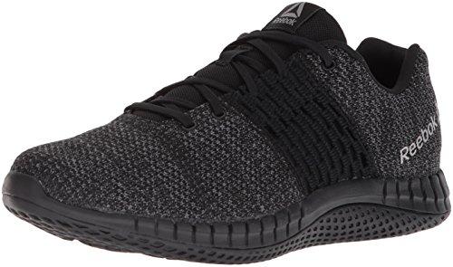 Reebok Men's Print Run Ultraknit Shoe, Black/Coal/Asteroid dust, 7 M US