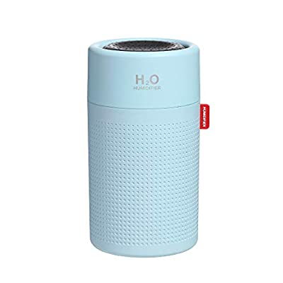 Richgv 750ml Cool Mist Humidifier, Quiet Air Humidifier Portable Diffusers with 7 Colors LED Lights, Waterless Auto Off Air Purifiers for Home Office Sleep Bedroom-Blue