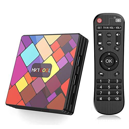 ALLWIN Caja De TV Android 10.0, RK3318 CPU CPU / 4GB RAM + 64GB ROM/USB 3.0 Y 2.0 / Banda Doble WiFi/BT 4.0 / HDMI 2.0 Caja Inteligente De Android