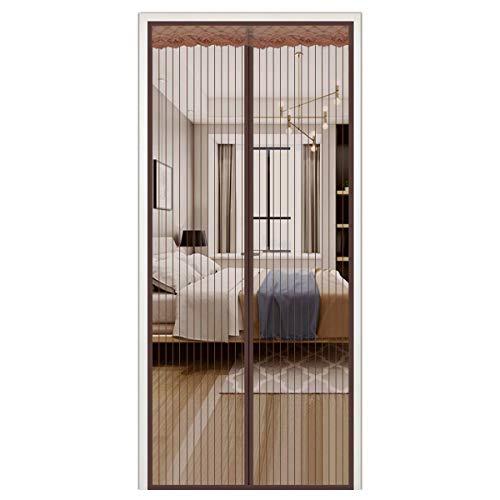 caoyueqing Shut Door Curtain, Anti-Moskito-Magic-Mesh, Screen Mesh Curtain Fits, Vorhänge Super Quiet Stripes-Verschlüsselung für Anti-Moskito Oder Anti-Pest Magnetic Soft Door(130 * 220cm)