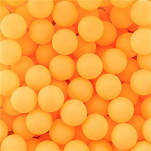 Bixmox 150 Tischtennisbälle Ohne Aufdruck Tischtennis Ballset Nahtloser Tischtennisball Table Tennis Ball Für Spiele/Spielzeug für Katzen Hunde/Kunsthandwerk, Nicht für Profisportarten (Orange)