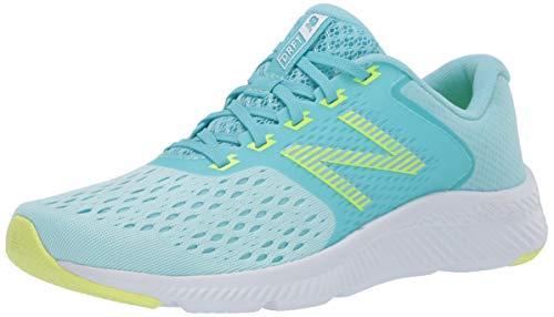 New Balance Women's DRFT V1 Running Shoe, Blue/Green, 5.5 W US