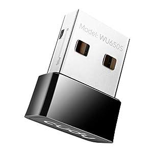 Cudy WU650 AC650 Adaptador de WiFi inalámbrico 433Mbps + 200Mbps USB para PC con Modo SoftAP - Tamaño Nano | Compatible con Windows XP / 7/8 / 8.1/10, Mac OS 10.6~10.11
