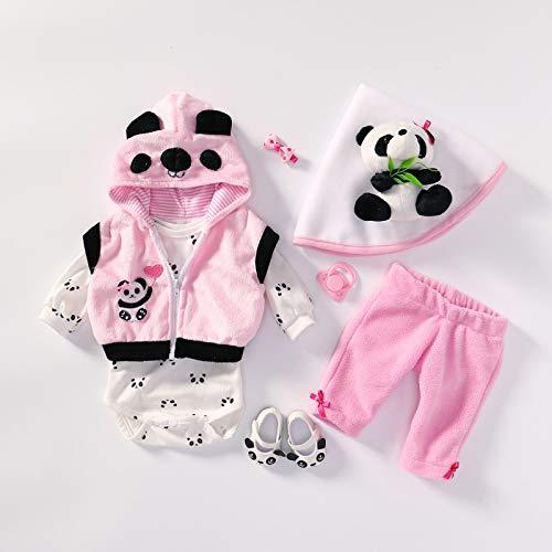 MineeQu 4 Estilos Diferentes Se Ajusta a 50-55 CM Muñecas recién Nacidas Vestido Renacer Bebé Muñeca Toda la Ropa de algodón