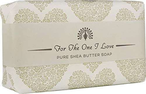 The English Soap Company, Occasions Shea Butter Soap, The One I Love- Rose, Grey Wrap, 200g
