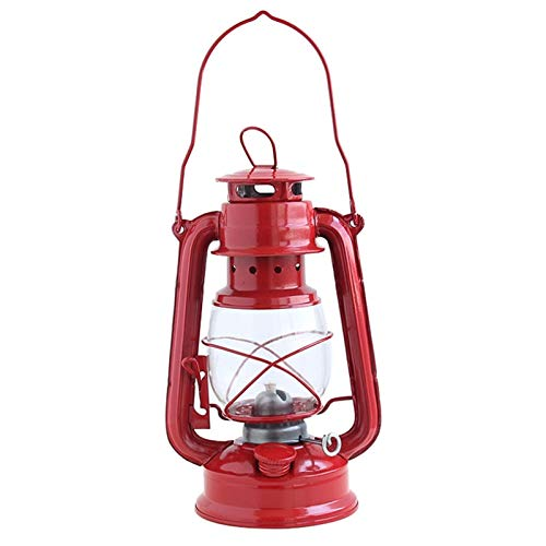 Luz de camping Retro Classic Kerosene Lámpara Kerosene Linternas Butt Wearable Glow Joyería-Rojo