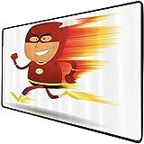 Mouse Pad Gaming Funcional Set de superhéroes Alfombrilla de ratón gruesa impermeable para escritorio Relámpago hombre con capa y máscara rápido como luz divertido personaje de dibujos animados divert