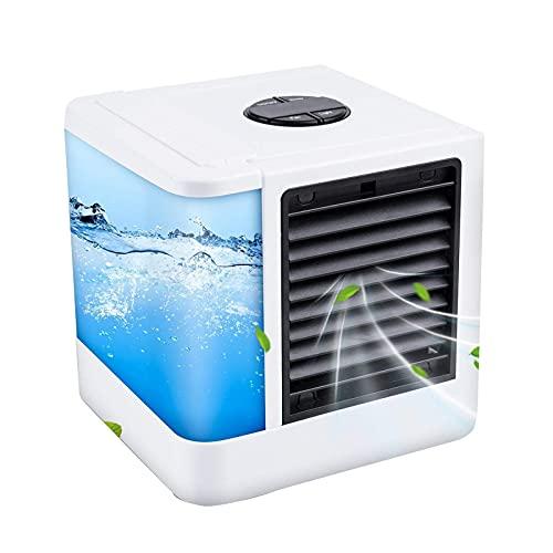 Ventola di raffreddamento ad aria , Condizionatore d'aria portatile, Mini USB Portatile Umidificatore Purificatore 7 Colori Luce Desktop Raffreddatore Ad Aria Ventola per Ufficio ( Color : White )