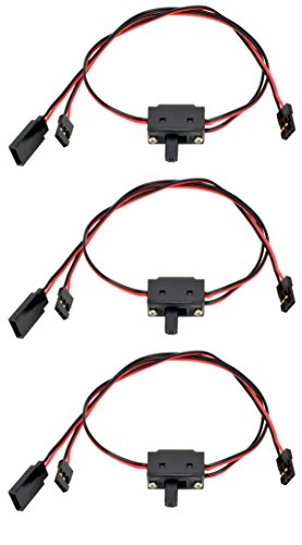 Apex RC Products 3 Pack - JR / Spektrum / Hitec Style 3 Way On/Off Switches 1056