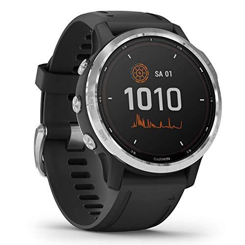 """Garmin fenix 6S Solar – schlanke GPS-Multisport-Smartwatch mit Solar-Ladefunktion für bis zu 10 Tage Akku. 1,2"""" Display für schmale Handgelenke, mit vorinstallierten Sport-Apps, robust und wasserdicht"""