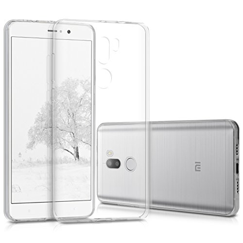 kwmobile Cover Compatibile con Xiaomi Mi 5s Plus - Custodia in Silicone TPU - Back Case Protezione Posteriore - Trasparente