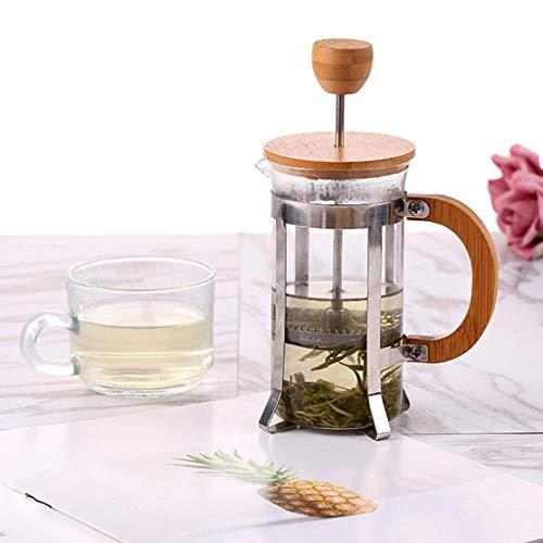 Homie Französische Presse Umweltfreundliche Bambusabdeckung Kaffee Plunger Teekocher Percolator Filterpresse Kaffee Wasserkocher Pot Glas Teekanne