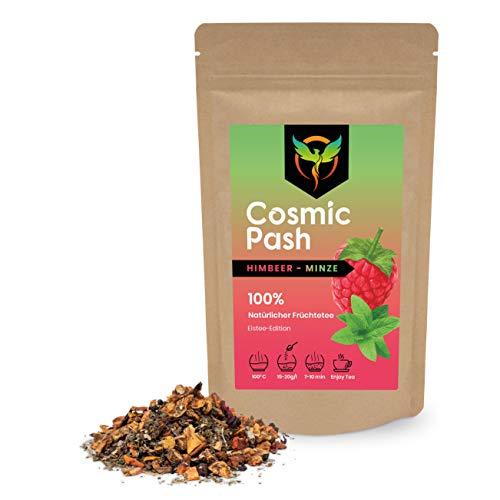 Cosmic Pash Frozen Tea Himbeer-Minze Eistee-Edition | Früchtetee lose | 100% natürlich | ohne Zucker | koffeinfrei 100g
