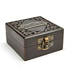 Super7One Handmade Antique Vintage Brass Compass in Rosewood Box   Exquisite Nautical Compass for Home Decor   Pocket Compass Gift for Every Occasion (Vintage Black) #2