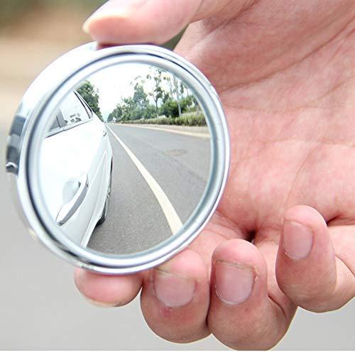 Rmeet Auto Laterale Specchio,2 Pack Specchietti Ciechi Rotabili di 360°Convesso Retrovisore Laterale Grandangolare Regolabile per Tutte Auto Bianca