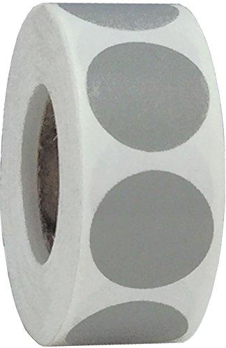 Grises Pegatinas Circulares, 19 mm 3/4 Pulgadas Etiquetas de Puntos 500 Paquete