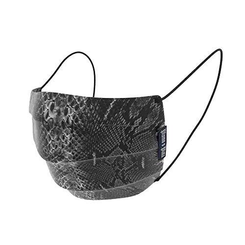 Plomo o Plata Mund-Nasenbedeckung, Snake, prof. hergestellt, wiederverwendbar, 60 Grad waschbar
